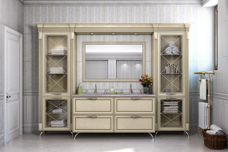 Дизайн-проект интерьера ванной комнаты. г.Тячев Вид-01
