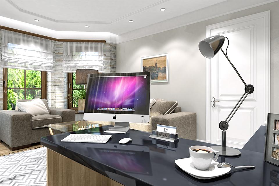 Дизайн-проект интерьера кабинета. г.Тячев Вид-01