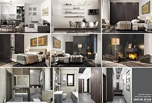 Дизайн проект інтер'єру двокімнатної квартири. Санаторій Карпати