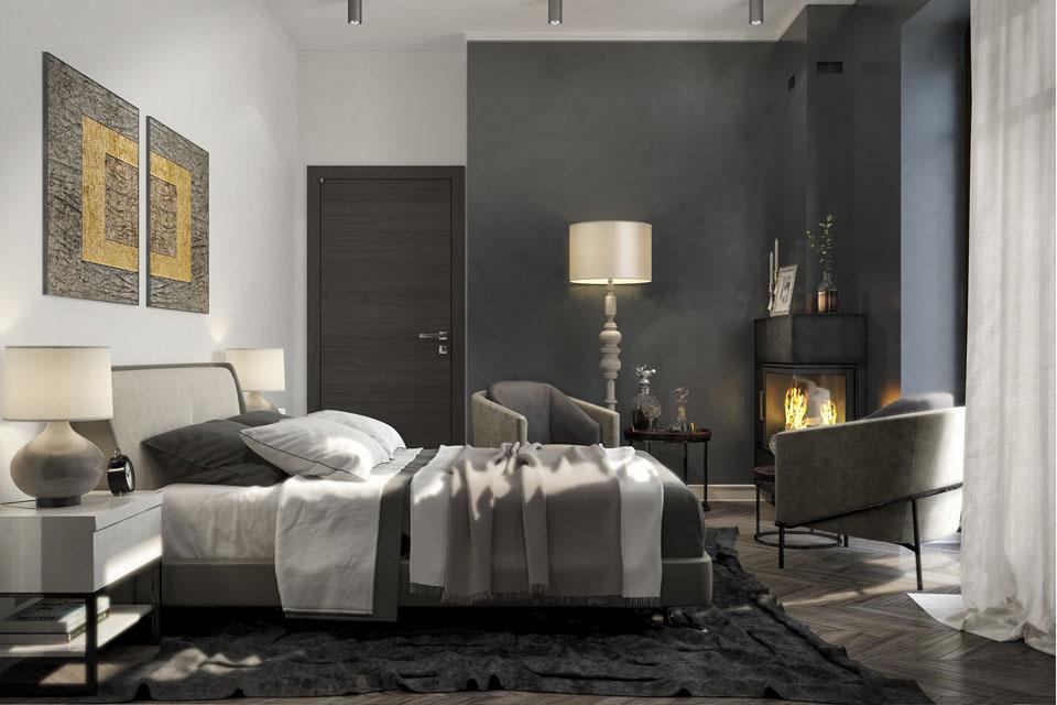 Дизайн проект інтер'єру спальні. Вид-03