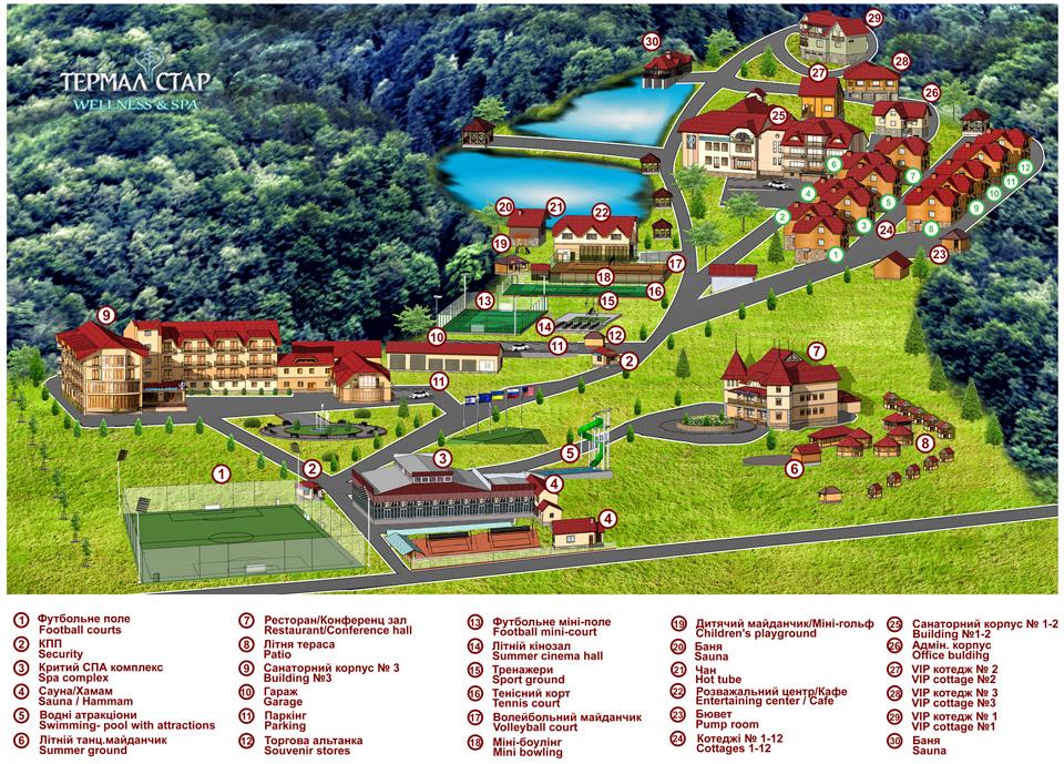 3D карта туристического объекта