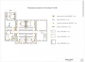 Планировочное решение гостиничного этажа