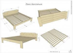 Проект двухспальной кровати