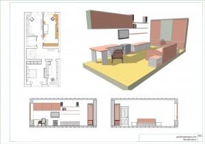 3D моделирование мебели детской комнаты