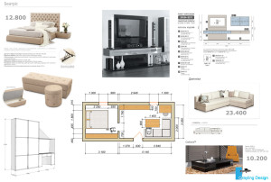 Экспликация используемой в проекте мебели.