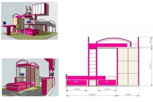 Проект детской комнаты г.Ужгород