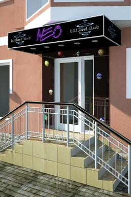 Дизайн проект клуба «Нео»
