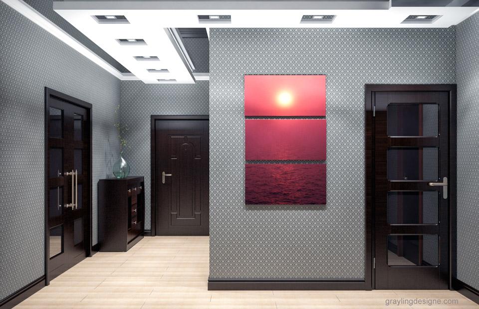 Визуализация проекта коридора двухкомнатной квартиры