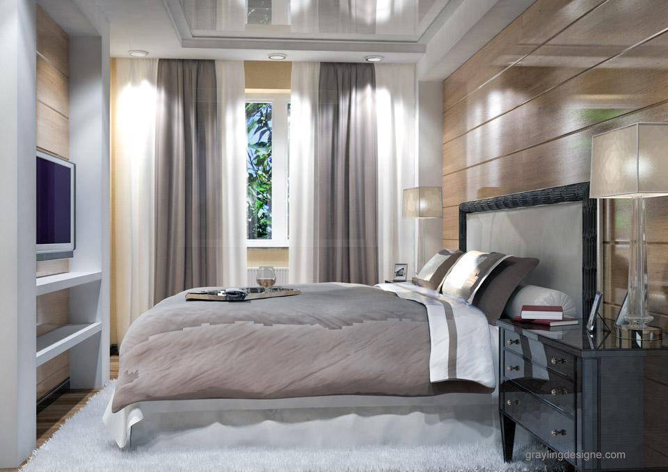 Дизайн проект спальни двухкомнатной квартиры