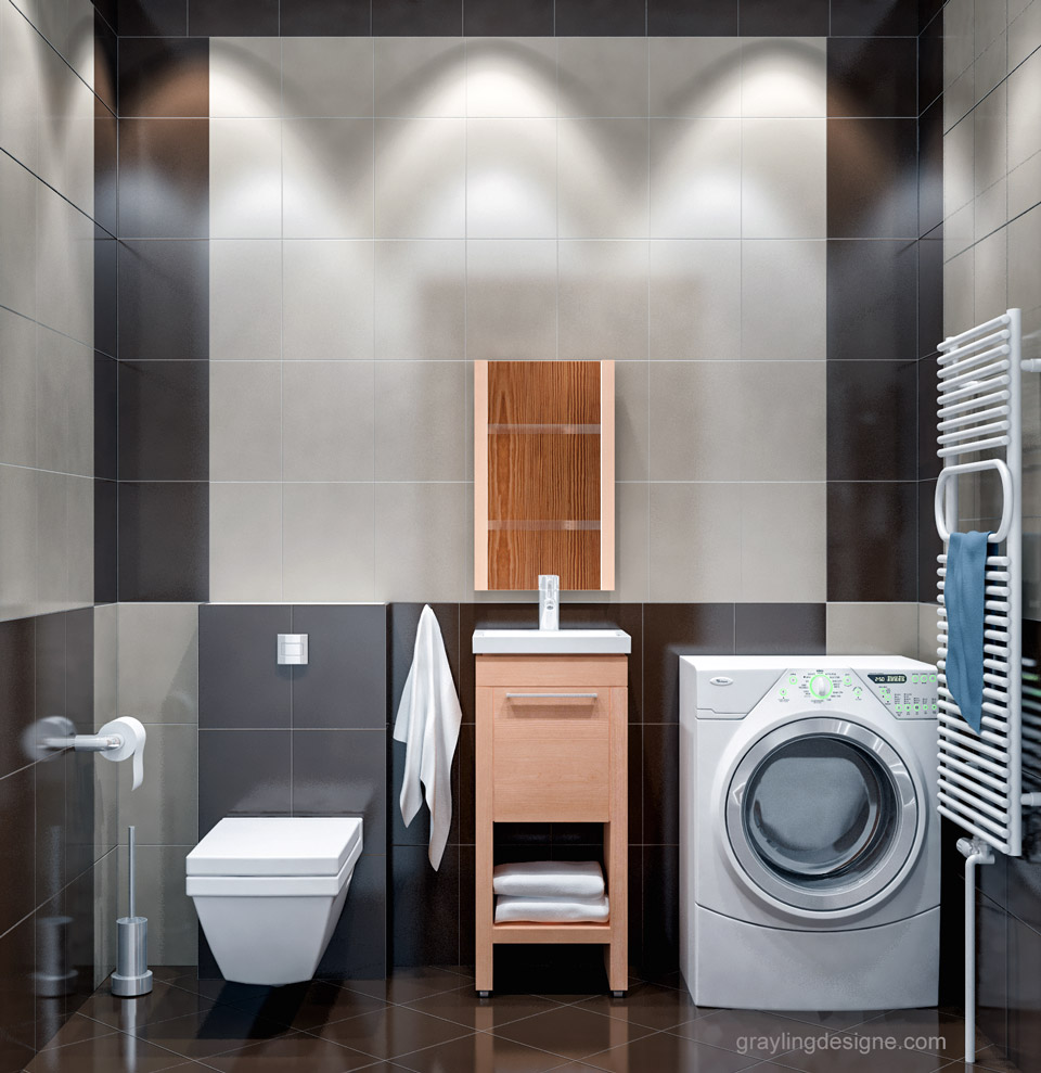 Дизайн проект санузла двухкомнатной квартиры