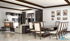 Дизайн-проект гостиной комнаты. Вид-03.