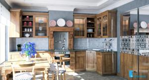 Дизайн проект интерьера кухни.