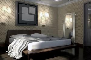 Дизайн проект спальной комнаты.