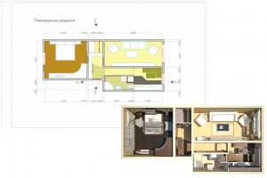 Планировочное решение двухкомнатной квартиры