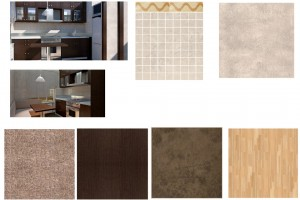 Дизайн проект кухни, материалы