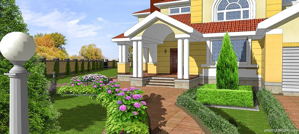 Ландшафтный дизайн схема