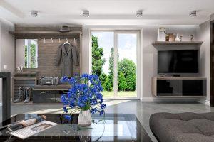 Дизайн-проект интерьера цокольного этажа коттеджа.