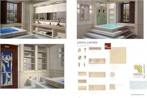 Проект дизайна интерьера ванной комнаты.