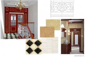 Проект дизайна входа и интерьера коридора.