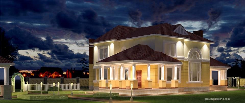 Проект освещения фасада