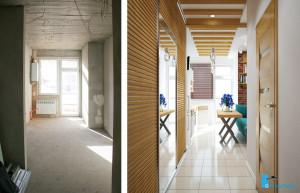 Дизайн проект прихожая и кухня. Вид-01.