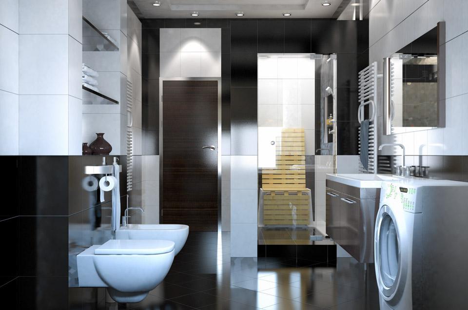 Дизайн проект ванной комнаты. Вид 2