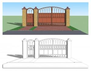Дизайн проект ворот.