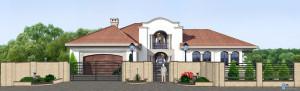 Дизайн проект ворот и забора. г.Виноградов. Общий вид.