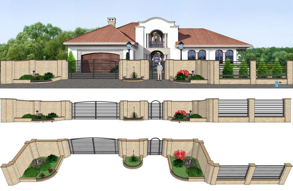 Дизайн проект ворот и забора. г.Виноградов. Конструкция ворот.