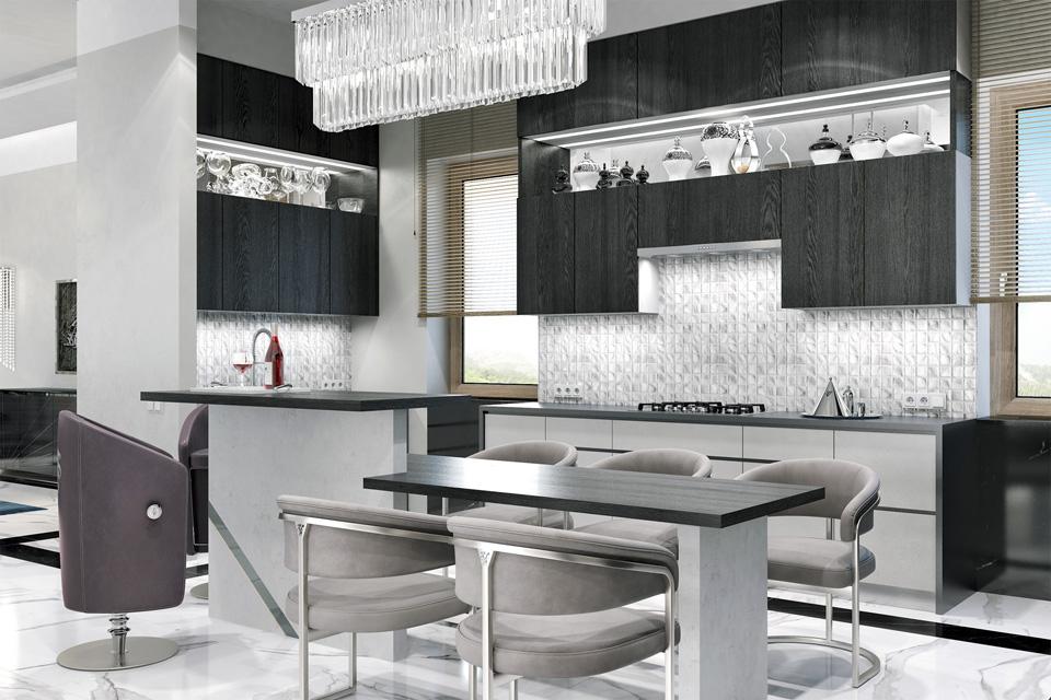Дизайн проект інтер'єру кухні. м.Мукачево Вид-01