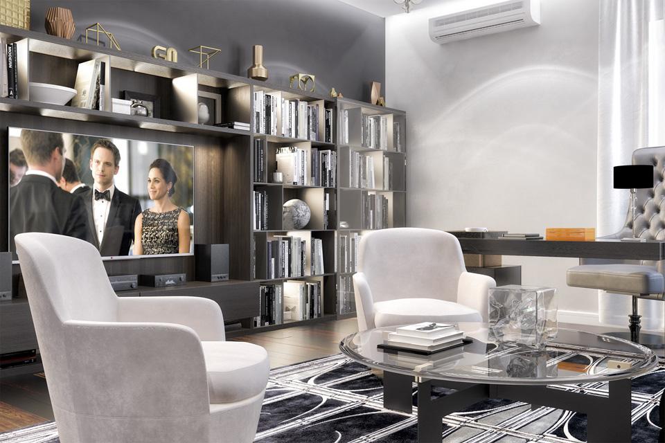 Дизайн проект інтер'єру кабінету. Вид-02 м.Мукачево