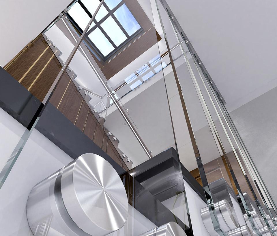 Дизайн проект сходів. Вид-01 м.Мукачево