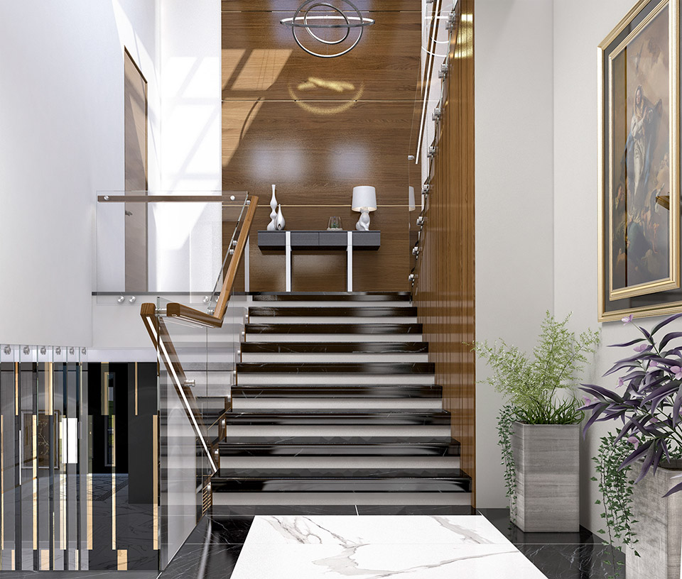 Дизайн проект сходів. Вид-03 м.Мукачево