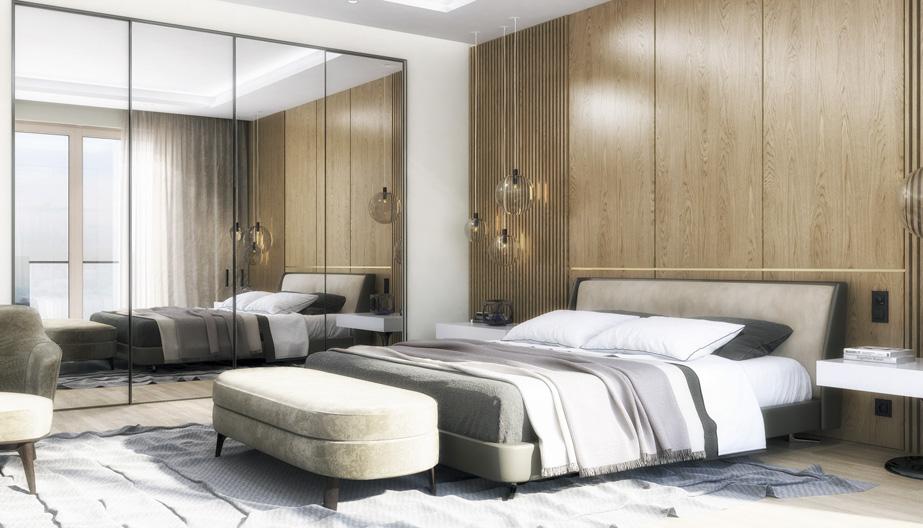 Дизайн проект інтер'єру спальні. Вид-02 м.Мукачево