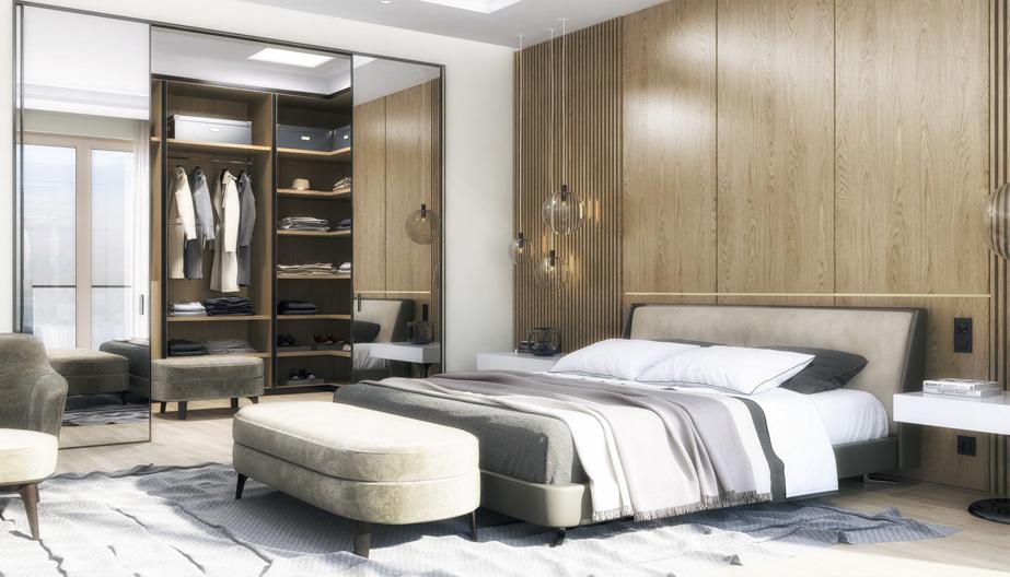 Дизайн проект інтер'єру спальні. Вид-03 м.Мукачево