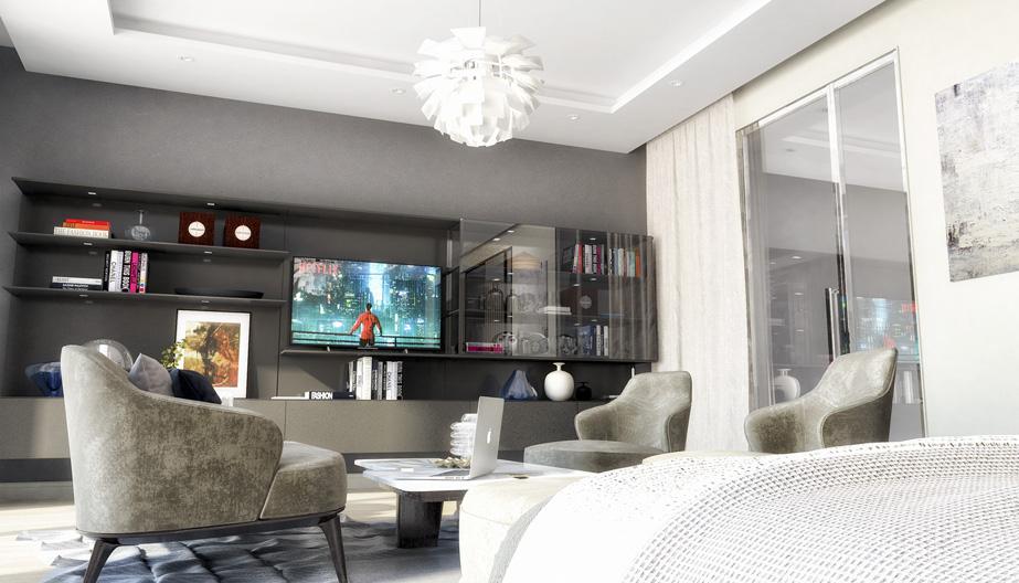 Дизайн проект інтер'єру спальні. Вид-04 м.Мукачево