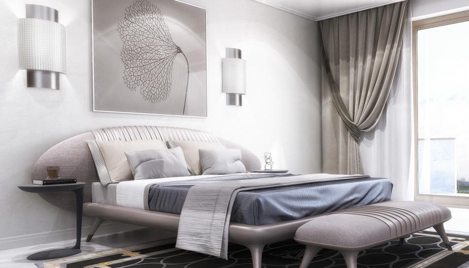 Дизайн проект інтер'єру спальні. Вид-05 м.Мукачево