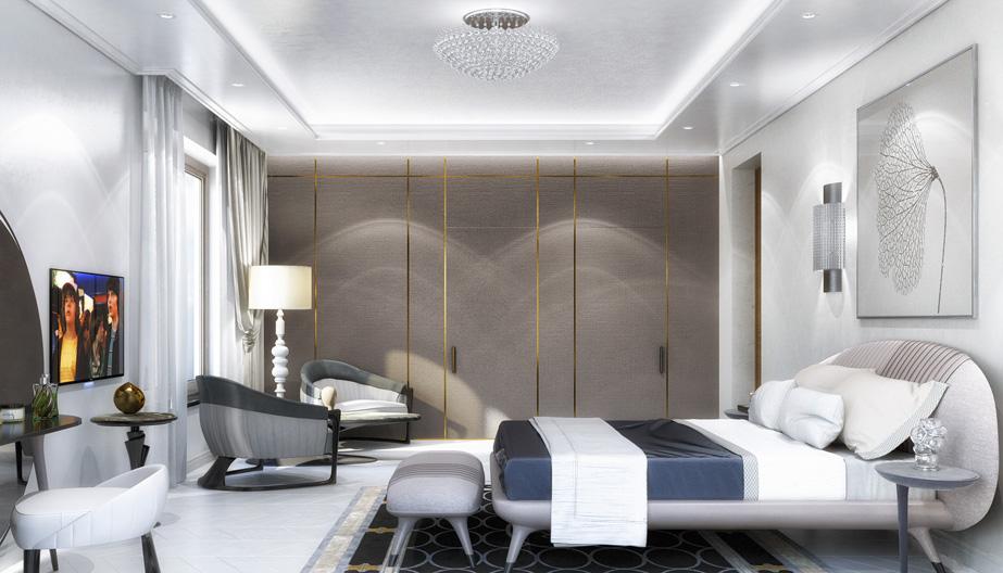 Дизайн проект інтер'єру спальні. Вид-06 м.Мукачево