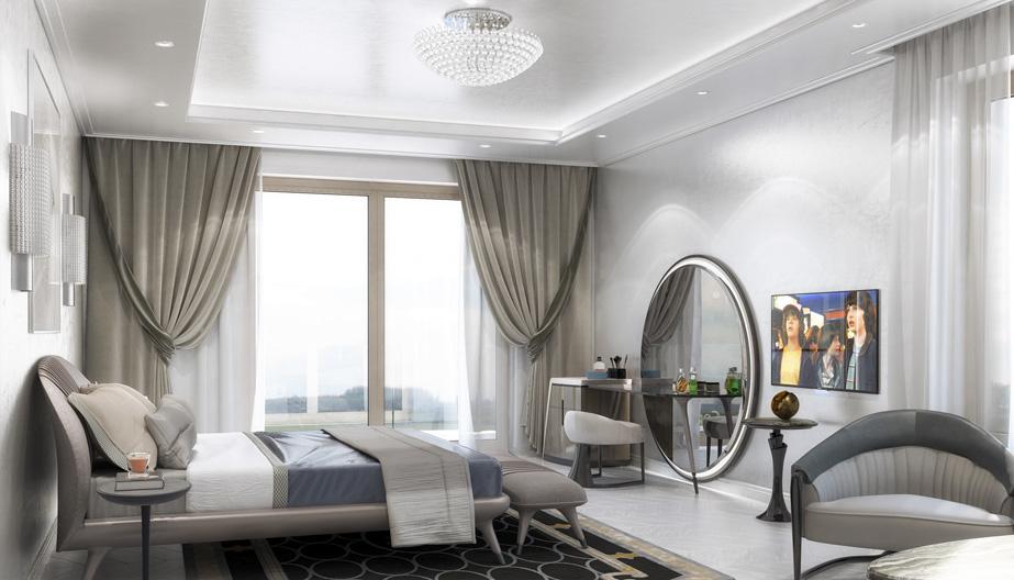 Дизайн проект інтер'єру спальні. Вид-07 м.Мукачево