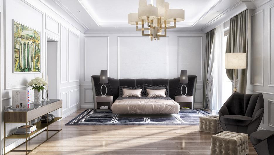Дизайн проект інтер'єру спальні. Вид-01 м.Мукачево