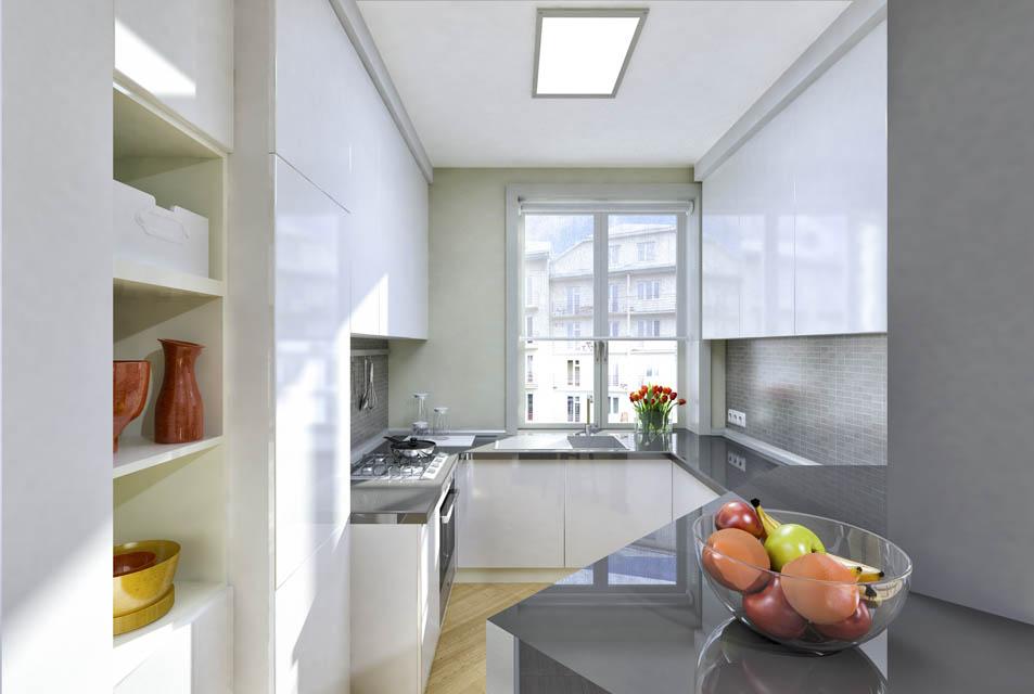 Визуализация интерьера кухни.