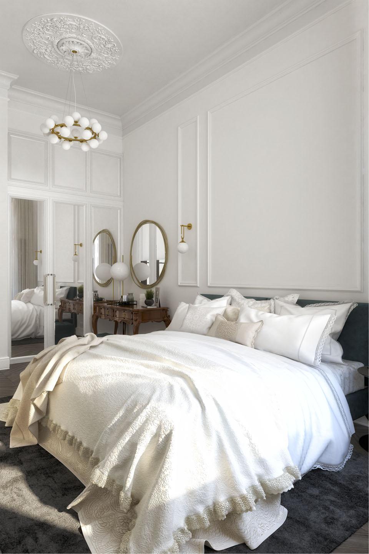 Дизайн проект інтер'єру спальної кімнати. Вид-02