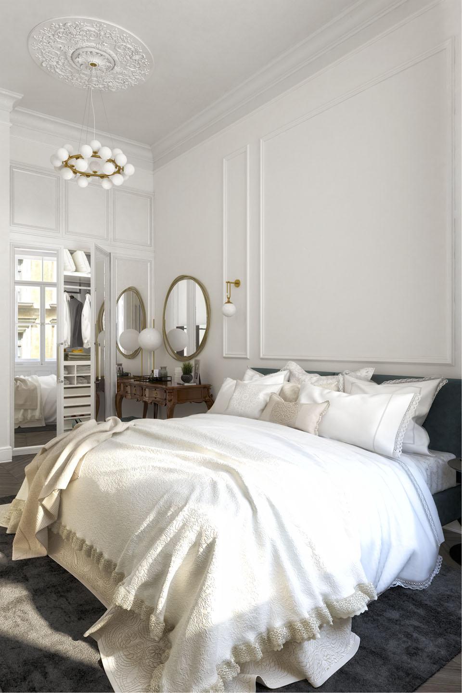 Дизайн проект інтер'єру спальної кімнати. Вид-03