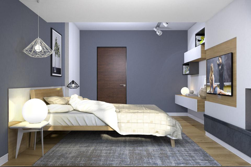 Дизайн проект інтер'єру спальні. Вид-04