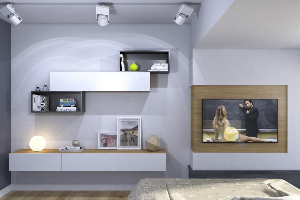 Дизайн проект інтер'єру спальні. Вид-05