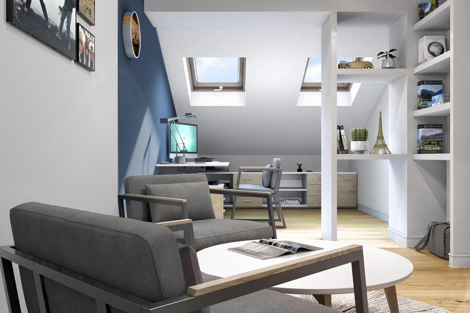 Дизайн проект інтер'єру кабінету. Вид-01