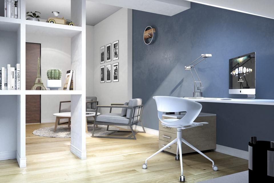 Дизайн проект інтер'єру кабінету. Вид-02