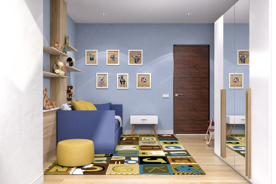Дизайн проект інтер'єру дитячої кімнати. Вид-03