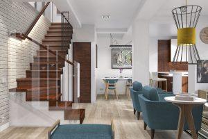Дизайн проект інтер'єру чотирьох кімнатної квартири. м.Ужгород