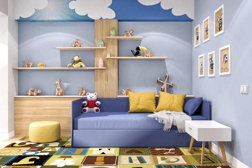 Дизайн проект інтер'єру дитячої кімнати. Вид-04
